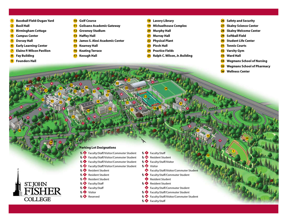 st john fisher college campus map Rochester Poets st john fisher college campus map